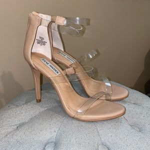 Steve Madden Clear Strappy Barely There Sandal